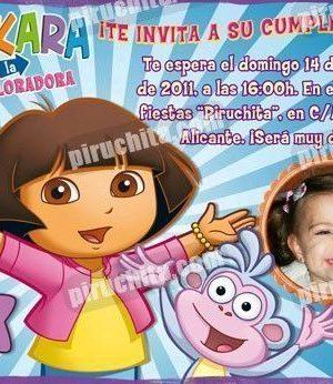 Invitación cumpleaños Dora la Exploradora #13-0
