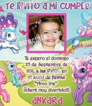 Invitación cumpleaños Mi Pequeño Pony #04-0
