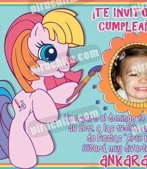 Invitación cumpleaños Mi Pequeño Pony #05-0
