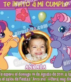 Invitación cumpleaños Mi Pequeño Pony #06-0