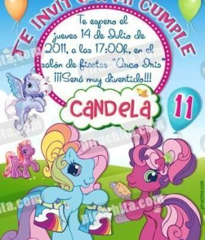 Invitación cumpleaños Mi Pequeño Pony #08-0