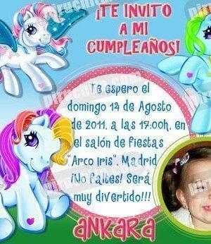 Invitación cumpleaños Mi Pequeño Pony #09-0
