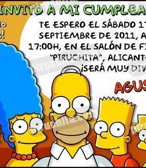 Invitación cumpleaños Los Simpsons #03-0