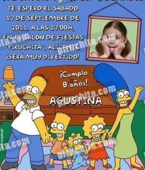 Invitación cumpleaños Los Simpsons #05-0