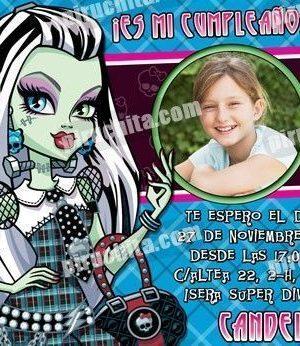 Invitación cumpleaños Monsters High #06-0