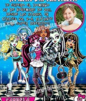 Invitación cumpleaños Monsters High #10-0