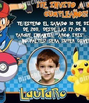 Invitación cumpleaños Pokemon #02-0