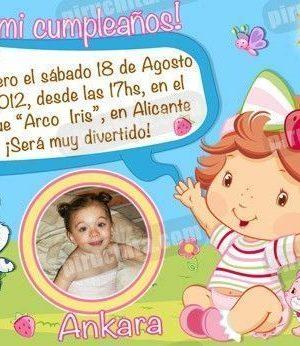 Invitación cumpleaños Tarta de fresa Baby #03-0