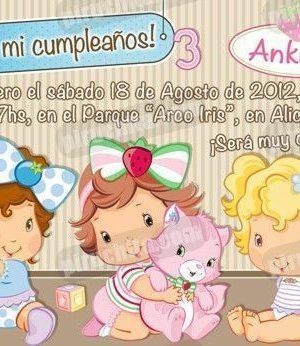Invitación cumpleaños Tarta de fresa Baby #04-0
