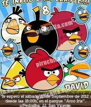 Invitación cumpleaños Angry Birds #03-0