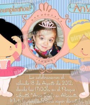 Invitación cumpleaños Ballet #02-0