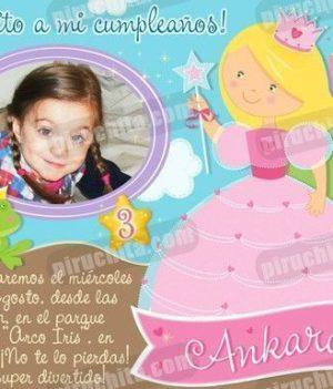 Invitación cumpleaños Princesas #01-0