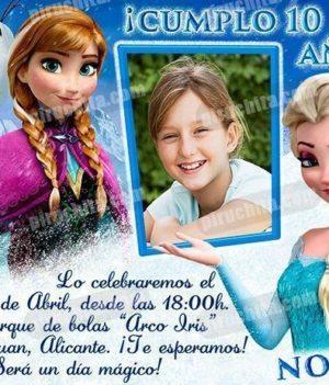 Invitación cumpleaños Frozen #03-0