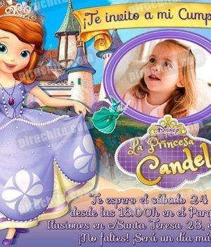 Invitación cumpleaños La Princesa Sofía #02-0
