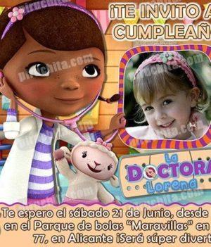Invitación cumpleaños La Doctora Juguetes #03-0