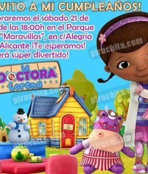 Invitación cumpleaños La Doctora Juguetes #04-0