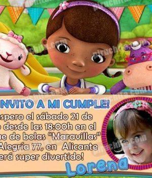 Invitación cumpleaños La Doctora Juguetes #08-0