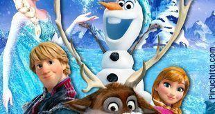 Cartel bienvenida fiesta Frozen