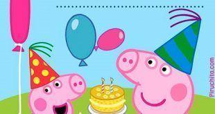 Invitación de cumpleaños Peppa Pig gratis