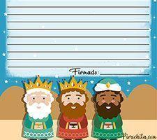 Carta para los Reyes Magos gratis para imprimir