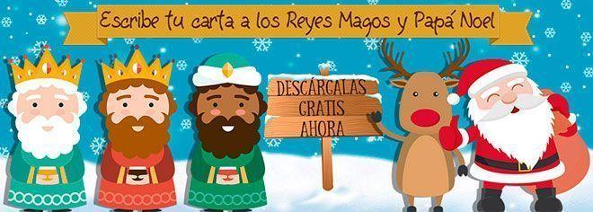 Escribe tu carta a los Reyes Magos y Papa Noel gratis