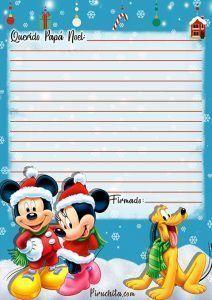 Carta Papá Noel de Mickey Mouse