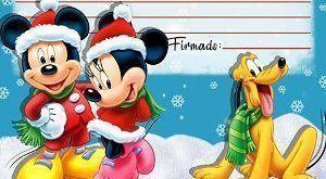 Carta a Papá Noel de Mickey gratis