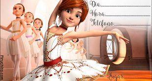 Invitación de cumpleaños Bailarina